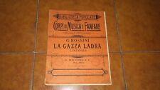 ROSSINI LA GAZZA LADRA SINFONIA SPARTITO COMPLETO FULL SCORE RICORDI 1900