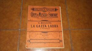 Rossini La Flocked Magpie Larsen Trap Symphonie Partition Set Complet Full Score