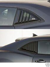 2015 Camaro GTS Smoke Quarter Window Louvered Covers