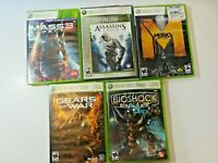First Person XBOX 360 Games Lot of 5 Mass Effect 3 Assassins Creed.. FREE SHIPPI