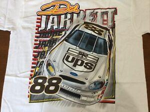 2002 Vintage NASCAR Dale Jarrett Jumbo Print Shirt  NOS UPS Old Logo Med NIP