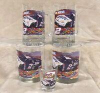 Lot NASCAR Penske Rusty Wallace Miller Lite Glass - Mugs/Steins Cups Shot Glass