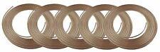 """Copper Nickel Brake Line Tubing Kit 3/16"""" OD 5 Pack 25 Ft Coil Roll NICOPP CN3"""