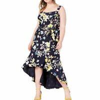 RACHEL ROY NEW Women's Plus Size Floral Hi-low Maxi Dress TEDO