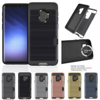 For Samsung Galaxy A8 2018 + Plus Card Armor ShockProof Tough Strong Case Cover
