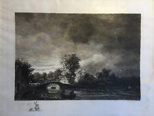 Etching 19. Century - Dutch Landscape - ) Unsigned Unsigned
