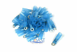 Xscorpion HSRT6B—16-14 Gauge Heatshrink Ring Terminal Size #6 Blue (50PCS)