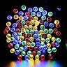 100 LED 12M Outdoor RF Solar Power Fairy Light String Lamp Party Xmas Decor