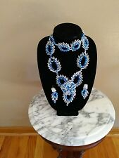 Women's Hand Crafted Crystal / Stone Beads Jewelry Set.