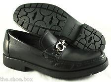 Men's SALVATORE FERRAGAMO 'Master' Black Leather Loafers Size US 7 - D