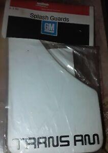 70's 80's 90's PONTIAC TRANS AM CUSTOM SPLASH GUARDS MUD FLAP WHITE  997707 OEM