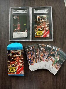 1988 Fournier Estrellas Michael Jordan Complete Set SGC 8.5