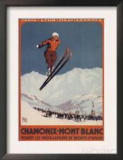 Chamonix Mont-Blanc, France - Ski Jump Framed Art Print - 14x18.5