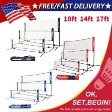 3-5M Portable Badminton Volleyball Tennis Net Set With Stand/Frame Carry Bag US