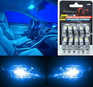 LED 3030 Light Blue 10000K 194 Ten Bulbs Interior Dome Replacement Lamp Festoon