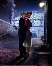 MARILYN MONROE & ELVIS PRESLEY HUGGING AT TRAIN STATION 22X28 SMALL POSTER print