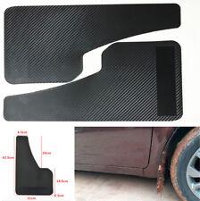 2 Pcs Vehicle Car Front & Rear Carbon Fiber Look  Mudguards Wear Resistant ABS