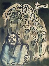 Marc Chagall, Moses and his People 1973, Hand Signed Lithograph 92/150