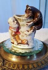 Antique Bisque Teddy Roosevelt Tooth Pick Holder