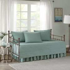 5 Pieces Daybed Bedding Cover Set Comforter Type Stitched Quilt Pattern Seafoam