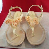 St John's Bay Pale Yellow Sandals Size 9