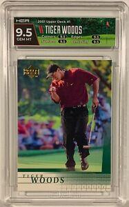 2001 Upper Deck Golf #1 Tiger Woods Rookie HGA 9.5 Gem Mint RC True Gem