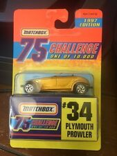 1997 Edition MATCHBOX 75 Challenge Plymouth Prowler #34 - NIB - 1/64