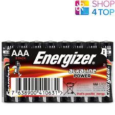 8 ENERGIZER ALKALINE POWER AAA LR03 BATTERIES MICRO MN2400 E92 1.5V NEW