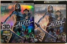 ALITA BATTLE ANGEL 4K ULTRA HD 3D/2D BLU RAY 3 DISC SET + SLIPCOVER SLEEVE BUYIT