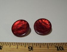 sewing supplies 20 pcs 11x15mm red strawberry acrylic buttons w// shank