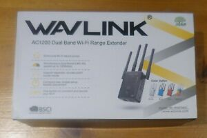 WAVLINK Wifi Booster, Wifi Range Extender Dual Band 5GHz + 2.4GHz 1200Mbps,Wi-Fi