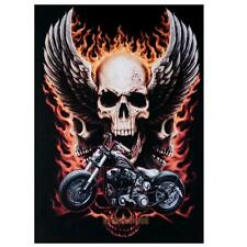 5D Diamond Embroidery Painting Motorcycle Skull Cross Stitch Home Decor Decal