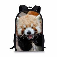 Red Panda Kids Backpack 16-inch Daypack Fit Laptop Womens Mens School Shoulders