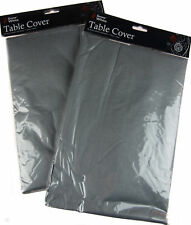 Set Of 2 Silver Flannel Back Christmas Table Covers - 132 x 174cm