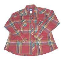 Wrangler Men's Vintage Western Rockabilly Pearl Snap Shirt Size X-Large XL EUC