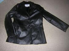 Mihu Women's Leather Jacket Size Large Black