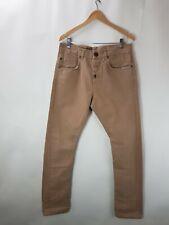 Vintage Superdry Mens Jeans 32W 32LA Crotch Button Fly Tan Colour 32x32