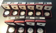 Canada Mixed Dates Proof 1 oz Fine Silver Coins - Snowflake Series (Lot of 10)