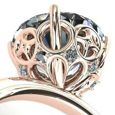 1.75 ct Round Diamond Engagement Ring Rose Sterling Silver VVS1/D New Ring