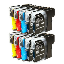 KIT 10 CARTUCCE COMPATIBILI PER BROTHER DCP-145c DCP-163c DCP-165c LC980 LC1100