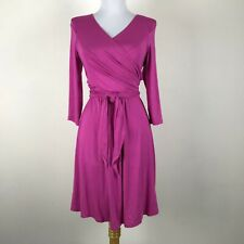 Pip & Vine Rosie Pope Pink Maternity Nursing Wrap Dress 3/4 Sleeves Size S