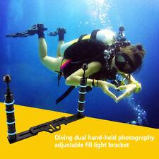 Underwater Handheld Aluminum Grip Stabilizer Rig Scuba Diving Camera Tray Mount