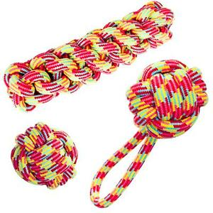 Large Dog Rope Chew Toys Tough Strong Knot Ball Cotton Fetch Play Pet DogCentre®