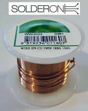 1mm Enamelled Copper Wire 100g Approx 15m 18BS Spool - Magnet Winding Chokes