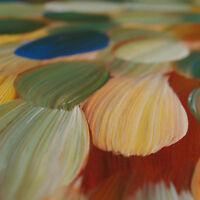 ABORIGINAL ART PAINTING by GLORIA PETYARRE 'BUSH MEDICINE LEAVES' Authentic '_