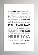Fall Out Boy - Centuries - Colour Print Poster Art
