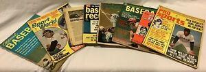 Vintage Lot of 8 1950's 60's 70's Baseball Magazines MLB Mays Robinson Seaver