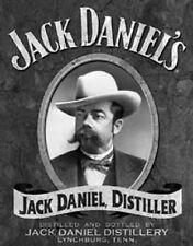 Jack Daniels Distiller Portrait Novelty Tin Sign Metal Whiskey Bar Wall Poster