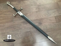 "41"" LOTR ANDURIL SWORD Medieval Knight Warrior's Lord of the Rings Sword w/ Scab"