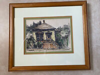 LARRY EIFERT Original Marker Drawing Watercolor Painting Framed matted Signed